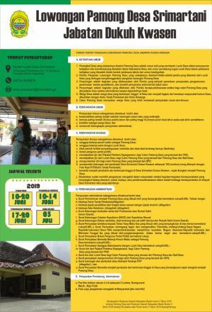 Inilah Syarat Pendaftaran Calon Dukuh Kwasen Srimartani