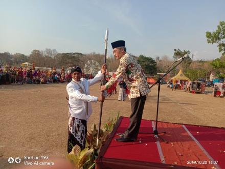 Wakil Bupati Bantul Menjadi Inspektur Upacara Hari Jadi Srimartani